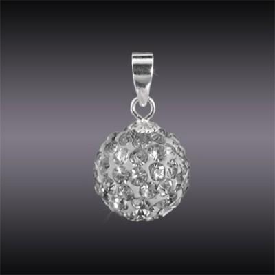 Swarovski kristállyal díszített ezüst medál