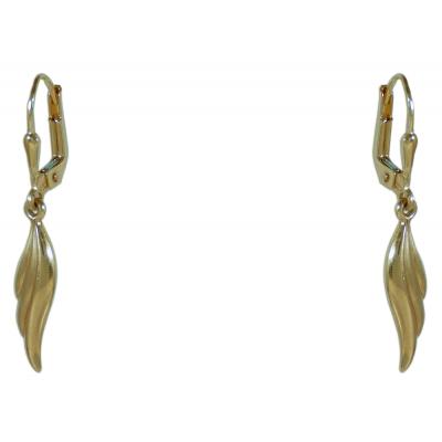 Csüngős fülbevaló sárga aranyból