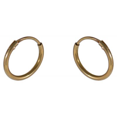 Klasszikus karika fülbevaló sárga aranyból