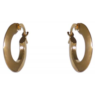 Karika fülbevaló sárga aranyból