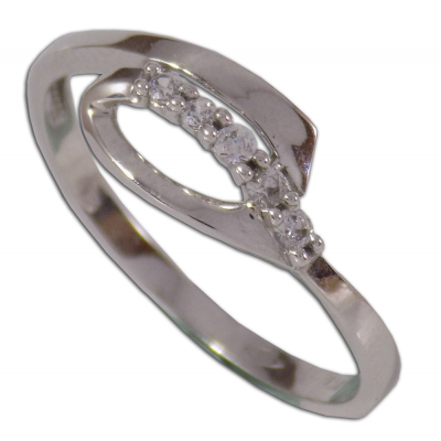 Arany eljegyzési gyűrű fehéraranyból