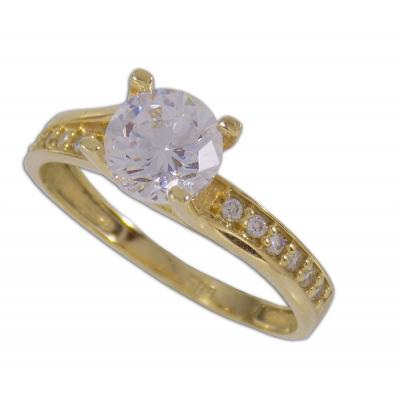 Arany eljegyzési gyűrű sárga aranyból