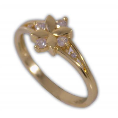 Női gyűrű sárga aranyból