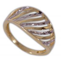 Női gyűrű fehér- és sárga aranyból