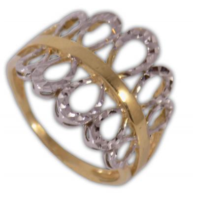 Női gyűrű fehér- és srága aranyból