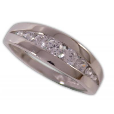 Női gyűrű fehéraranyból