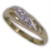 Női köves gyűrű sárga aranyból