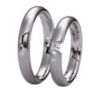 Fehér arany karikagyűrű